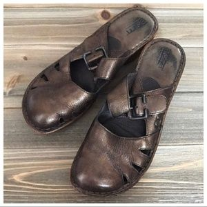 BORN Metallic BRONZE Leather Slip On MaryJane SZ 8